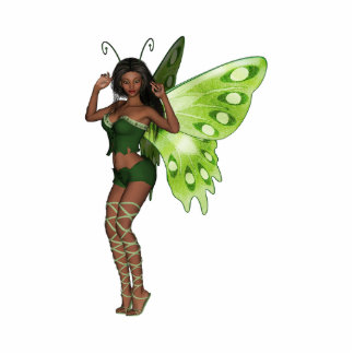 Green Wing Lady Faerie 3 - 3D Fairy - Photo Cut Outs