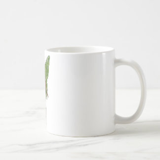 Green Wing Lady Faerie 5 - 3D Fairy - Basic White Mug