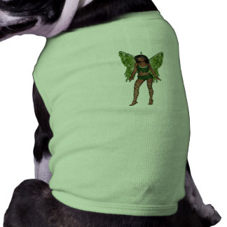 Green Wing Lady Faerie 5 - 3D Fairy - Dog Tee