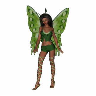 Green Wing Lady Faerie 5 - 3D Fairy - Photo Sculpture