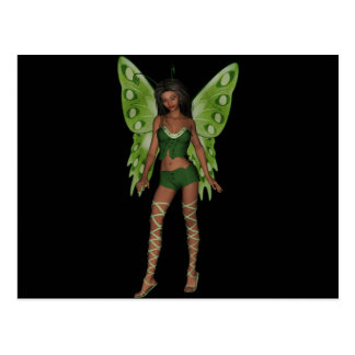 Green Wing Lady Faerie 5 - 3D Fairy - Postcard