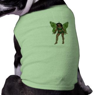 Green Wing Lady Faerie 5 - 3D Fairy - Sleeveless Dog Shirt
