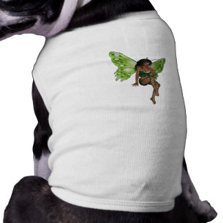 Green Wing Lady Faerie 6 - 3D Fairy - Doggie Tshirt