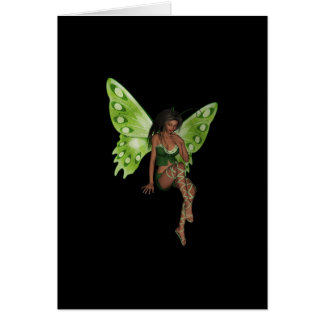 Green Wing Lady Faerie 6 - 3D Fairy - Greeting Card