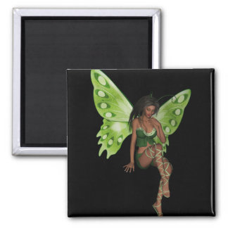 Green Wing Lady Faerie 6 - 3D Fairy - Magnet