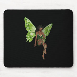 Green Wing Lady Faerie 6 - 3D Fairy - Mouse Pads