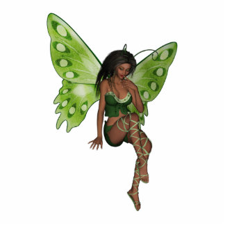 Green Wing Lady Faerie 6 - 3D Fairy - Photo Cut Outs