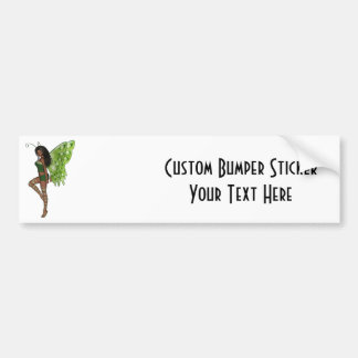Green Wing Lady Faerie 7 - 3D Fairy - Bumper Sticker