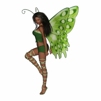 Green Wing Lady Faerie 7 - 3D Fairy - Cut Outs