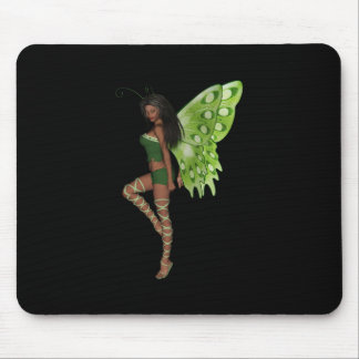 Green Wing Lady Faerie 7 - 3D Fairy - Mousepad