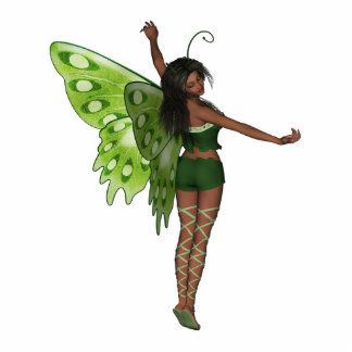 Green Wing Lady Faerie 8 - 3D Fairy - Cut Out