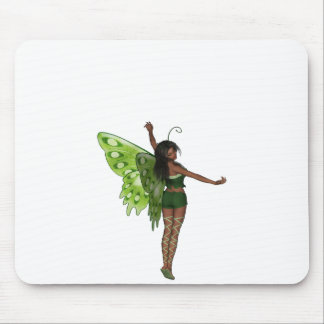 Green Wing Lady Faerie 8 - 3D Fairy - Mouse Pads