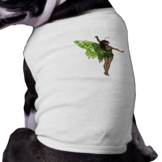 Green Wing Lady Faerie 8 - 3D Fairy - Pet Tshirt