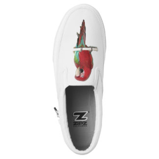 Green Wing Macaw Slip On Shoes