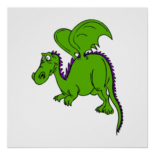 Green Winged Dragon Poster