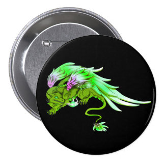 Green Winged Drake Button