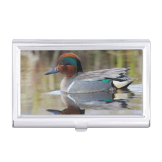Green-winged Teal Business Card Holder