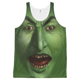 Green witch All-Over print tank top