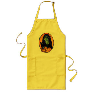 Green Witch Oval Aprons