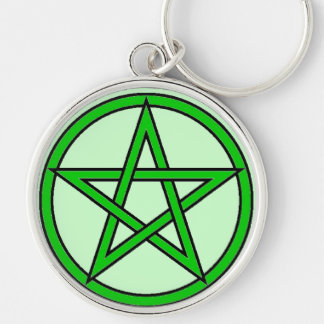 Green Witch Silver-Colored Round Key Ring