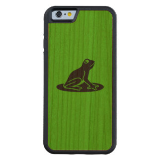 Green with black frog Bumper Cherry Carved Cherry iPhone 6 Bumper Case