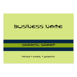 Green with Green Stripes Business Card Templates