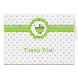 Green with Grey Polka Dot Thank You Card