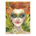 Green Woman Postcard