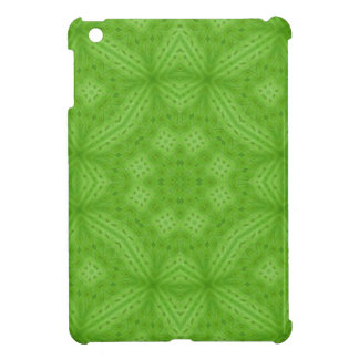 Green wood abstract pattern iPad mini cases