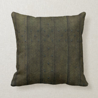 Green wood throw pillow