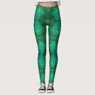 Green wood leggings. leggings