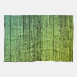 green wood tea towel