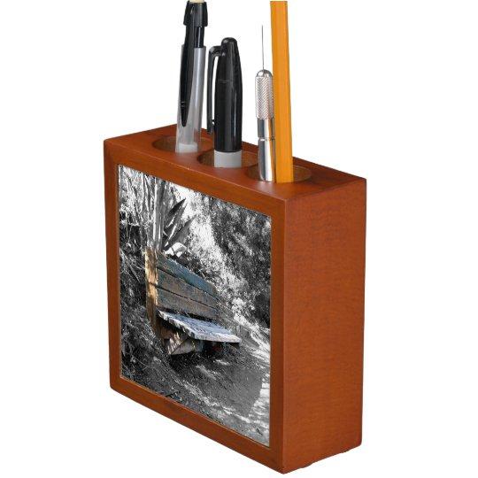 Green Wooden Bench Pencil/Pen Holder