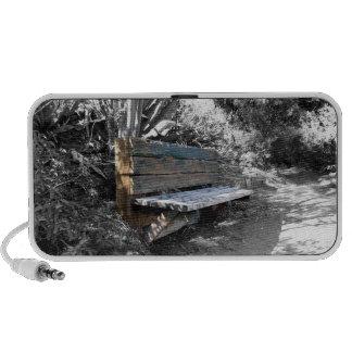 Green Wooden Bench iPhone Speakers