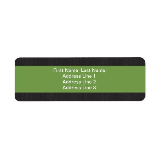Green & Woodgrain Professional Return Address