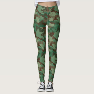 Green  Woodland Army Camouflage Leggings