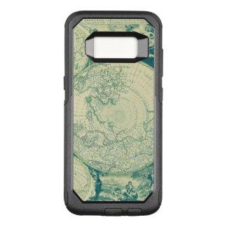 Green World Aged Map Black Burnt OtterBox Commuter Samsung Galaxy S8 Case