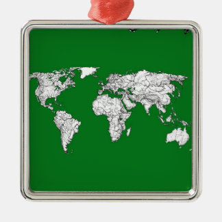 green world atlas christmas ornament
