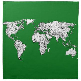 green world atlas napkin