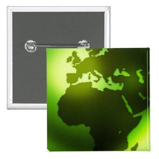 Green World Pin