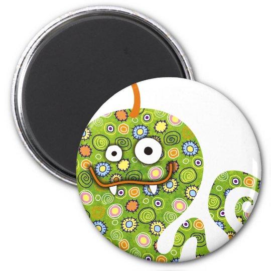 Green Worm Magnet