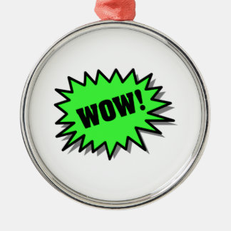 Green Wow Christmas Tree Ornament