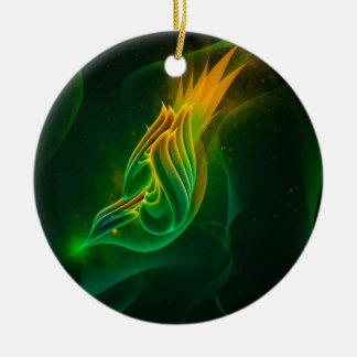 Green Wren Christmas Ornament