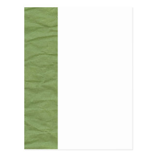 Green Wrinkled Paper Texture Postcard