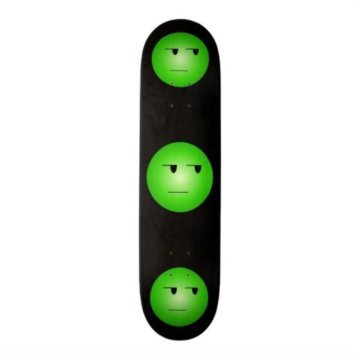 Green Yeah Right Smiley Skateboard Decks