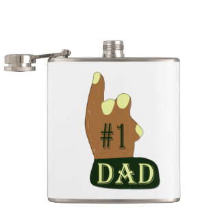 Green Yellow #1 Dad Hip Flask