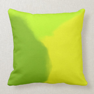 Green & Yellow Abstract Cushion
