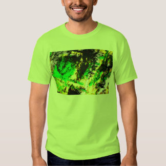 Green Yellow Abstract Design T-shirt