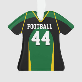 Green, Yellow and Black Football Jersey Ornament