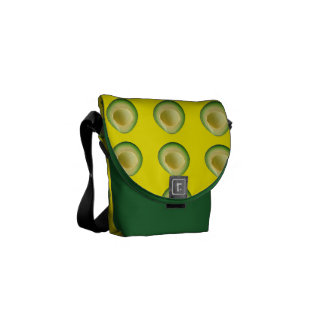 Green Yellow Avocado Madness Commuter Bag